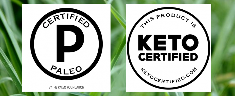 We're Paleo and Keto Certified!